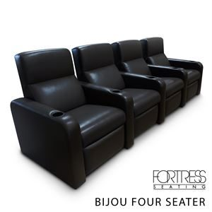 Bijou 4 Seater Cinema Chair Faux Leather