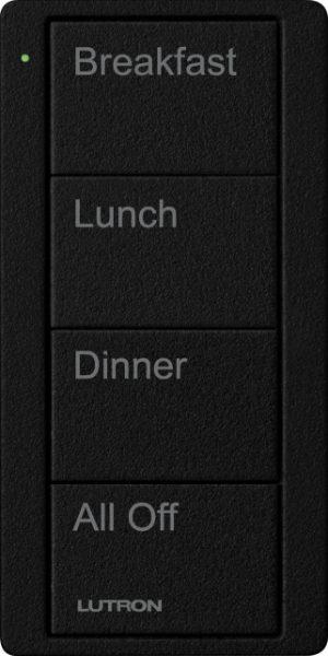 Pico Keypad - 4 Button - Zone Cst Engrvng (Black)