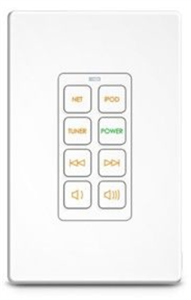 8 Button Lighted In-wall Universal System Controller